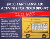 Speech and Language Activities for Mixed Groups: School Buses
