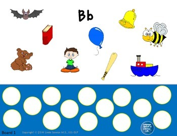Articulation and Language Activities for the Beginning B Sound