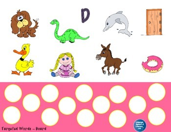 Articulation and Language Activities for the Beginning D Sound