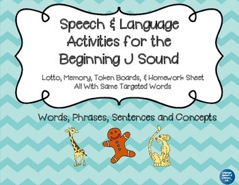 Articulation and Language Activities for the Beginning J Sound