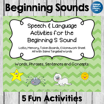 Articulation and Language Activities for the Beginning S Sound