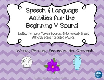 Articulation and Language Activities for the Beginning V Sound