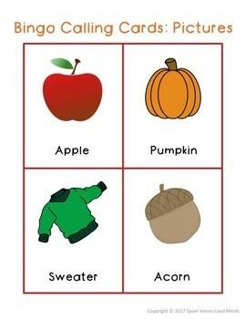 Speech and Language Activity Pack:  Autumn