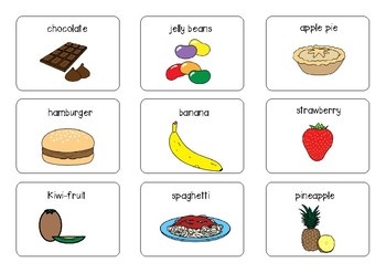 Speech and Language Activity ~ Shopping for Tasty Syllables