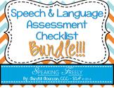 Speech and Language Assessment Checklist: BUNDLE