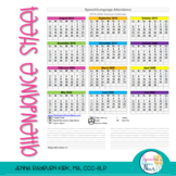 Speech and Language Attendance Sheet (Free) Updated 18-19