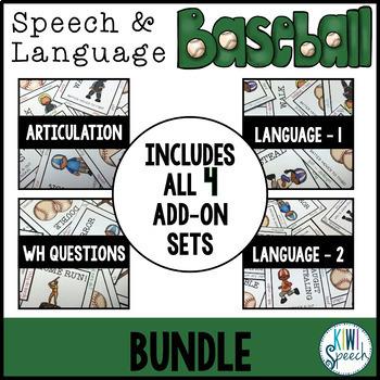 Speech and Language Baseball BUNDLE