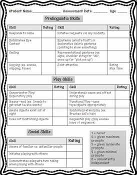 Speech and Language Baseline Tool (Birth to Five)