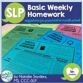 Speech and Language - Basic Homework - 10 Weeks