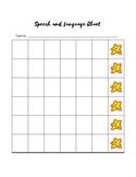 Speech and Language Behavior/Sticker Chart