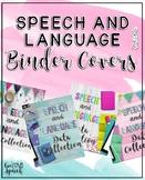 Speech and Language Binder Covers {FREEBIE}