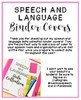 Speech and Language Binder Covers {FREEBIE}