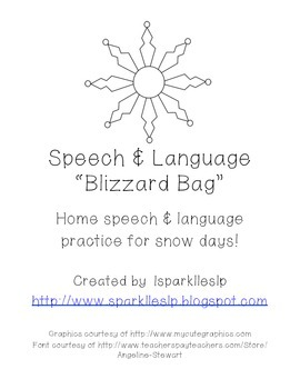 Speech and Language Blizzard Bag