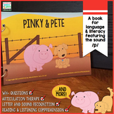 Speech and Language Book featuring the P sound |  Pinky and Pete