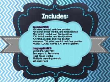 Speech and Language Bookmarks