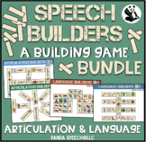 Speech and Language Builders BUNDLE: A Speech Therapy Building Game! Low-Prep