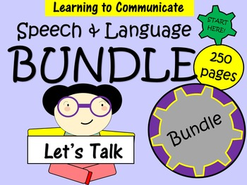 Speech and Language Bundle - 250 pages of activities to develop speech.