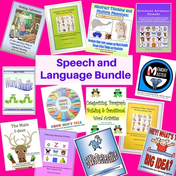 Speech and Language Bundle