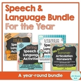 Speech & Language Activities for the Year Bundle