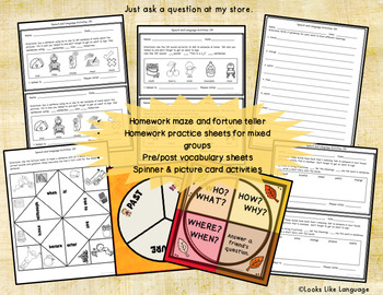 Speech and Language Picture Activities for Mixed Groups Talk About CH Sounds