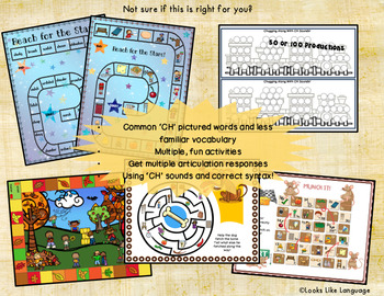 Mixed Groups | Language and Artic | CH Sounds Picture Activities