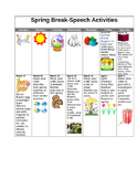 Speech and Language Calendar