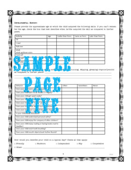 Speech and Language Case History Form
