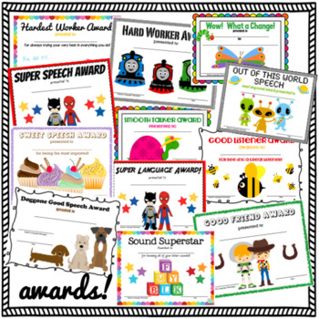 Speech and Language Certificates & Diplomas Mega Bundle {for SLPs!}