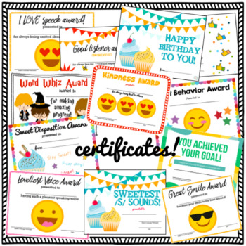 Speech and Language Certificates & Diplomas Mega Bundle {for SLPs!}