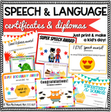 Speech and Language Certificates & Diplomas Mega Bundle {f