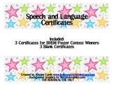 Speech and Language Certificates {FREEBIE}