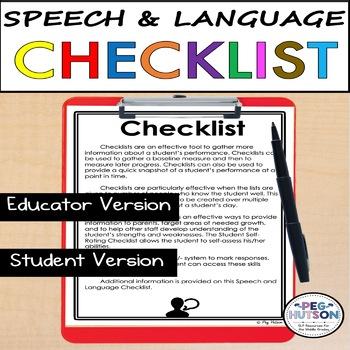 Speech and Language Checklist