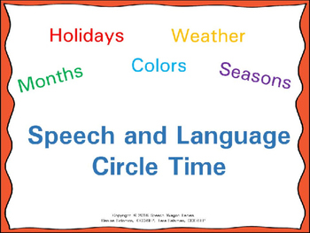 Speech and Language Circle Time