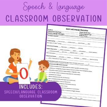 Speech and Language Classroom Observation