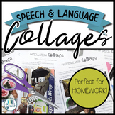 Speech and Language Collages Activity / Homework for Speech Therapy