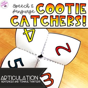 Speech and Language Cootie Catchers! - Articulation