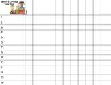 Speech and Language Data Sheet FREEBIE