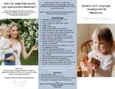 Speech and Language Developmental Milestones 1-2 Years