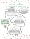 Speech and Language Developmental Milestones