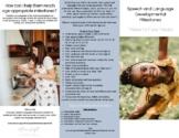 Speech and Language Developmental Milestones 3-4 Years