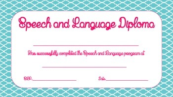 Speech and Language Diploma FREE