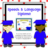 Speech and Language Diploma for Students Graduating from Speech Therapy Services