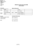Speech and Language Evaluation Cover Sheet