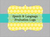 Speech and Language Evaluation Logs