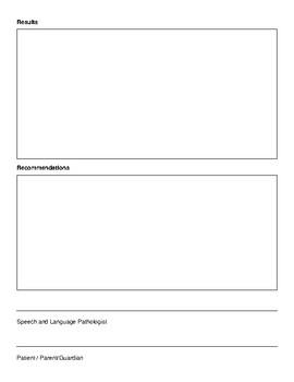 Speech and Language Evaluation Report