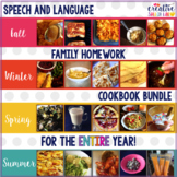 Speech and Language Family Homework Cookbook Bundle