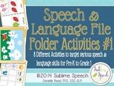 Speech and Language File Folder Activities 1