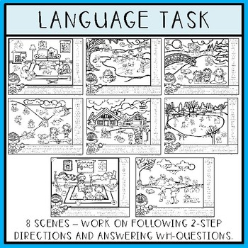 Find Articulation and Follow Directions Speech and Language: Winter