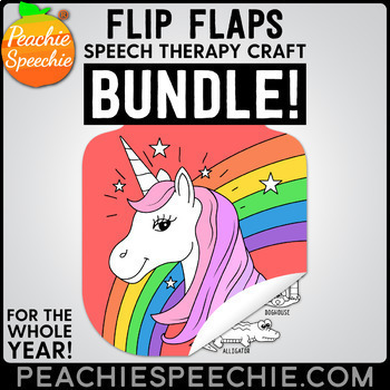 Speech and Language Flip Flap Craft Bundle by Peachie Speechie
