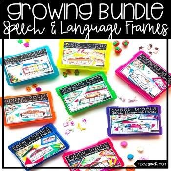 Speech Frames Bundle (articulation, language, fine motor)